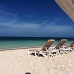 View from the beach cabanas��