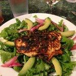 Grilled Blackened Salmon Salad
