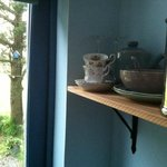 Shelf and birdhouse