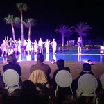 Fashion show by the pool