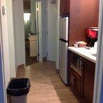 kitchen- looking from living room to front door