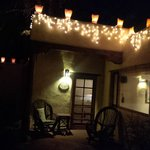 The charming lighting outside the Taos Suite.