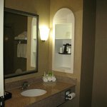 Clean, bright bathroom