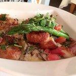 Diver's scallops with ravioli