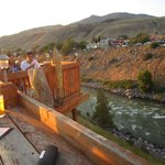 Deck on Restaurant in Gardiner - Iron Horse Grill