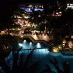 The main pool at night from our 5th floor club suite