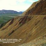 Very narrow twisty gravel road to Kantishna