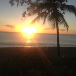 Sunrise at about 7am just prior to my swim