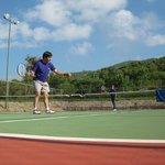 en al cancha de tenis