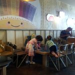 Childrens area at Jamies cafe and cook school brighton