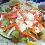 Garden Salad with Lobster