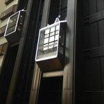 Glass elevators in Galt East Tower