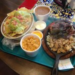 The family combination fajita platter is large enough to feed four.