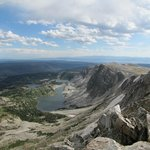 View from the top of Medicine Bow Peak 12,014 feet