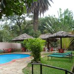 pool at the OutPost Lodge in Arusha
