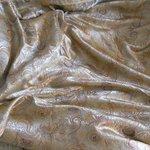 Brocade silk bed skirt
