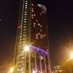 Hesperia Tower Hotel by night.
