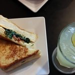 spinach bacon grilled cheese with lime juice