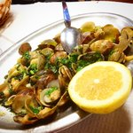Clams with garli, olive oil & corriander