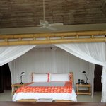 Rooms with the old fashioned mosquito nets-fab!!