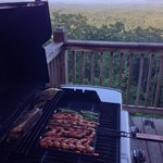 Grilling time at Wonderful Lodge