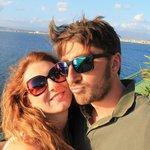 Io e mio marito con la vista della Costiera Amalfitana!