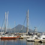 Der berühmte Hafen von Horta: er liegt einem zu Füßen!