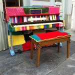 Random pianos around town during music festival