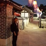 Night in namsangol hanok village