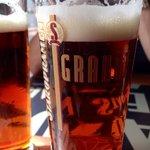 Staropramen Granat (garnet) red beer. Just lovely.