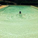 Relaxing dip in the pool