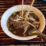 Boat noodle beef soup