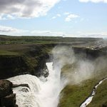 Gulfoss from the uppermost vantage point.