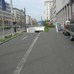 parcheggio interrato: la rampa di accesso