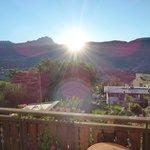 Sonnenaufgang / Zimmeraussicht am Morgen