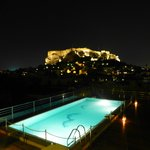 View of the Acropolis from Pool Terrace at night
