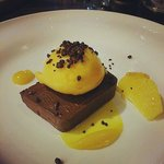 Chocolate Terrine with Orange Sorbet