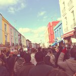 Portobello Market full of people as usual