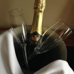 Champagne on arrival!
