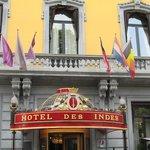 Front Entrance to the Hotel Des Indes