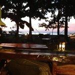Sonnenuntergang vom Restaurant aus