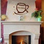Fireplace inside Katie's Kitchen