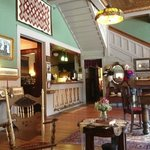 The lobby - lots of historical information, photos, and furnishings.