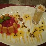 Dessert à la mangue