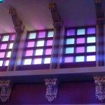 Rotunda windows surrounding ceiling