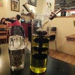 Oil, vinegar and pepper