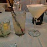 Left to right. Blueberry lemonade, white gummie bear, key lime martini