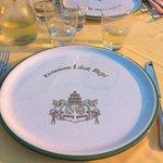 molto bello il simbolo nel piatto