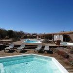 Área SPA e piscinas