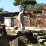 Scene from temple ruins at Ostia Antica